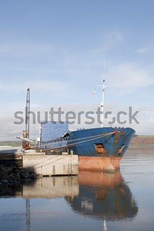 boat being loaded with steel Stock photo © morrbyte
