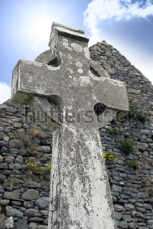 old celtic cross in kerry Stock photo © morrbyte