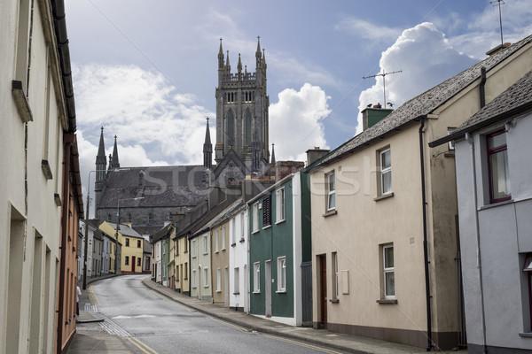 Yerleşim sokak sahne güzel şehir İrlanda Stok fotoğraf © morrbyte