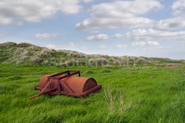 Foto d'archivio: Abbandonato · agricola · pesante · lussureggiante · verde · campo