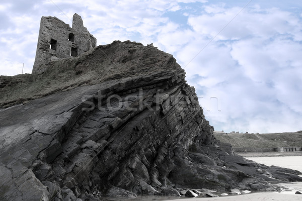old ruins of a castle on a high cliff Stock photo © morrbyte