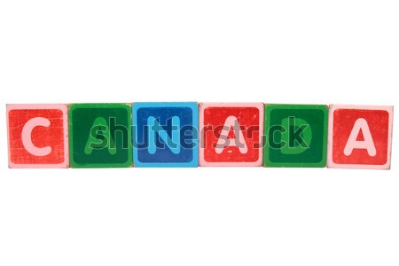 thanks in toy block letters Stock photo © morrbyte