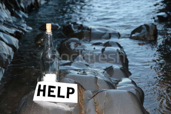 help me bottle Stock photo © morrbyte