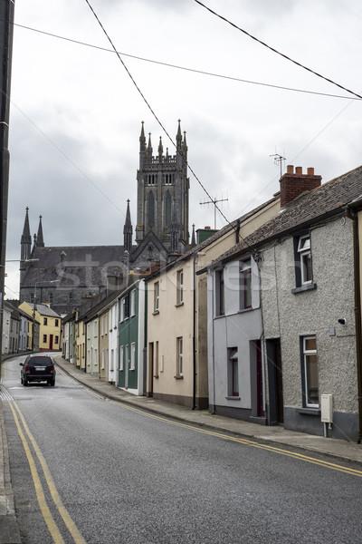 Bella residenziale strada scena città Irlanda Foto d'archivio © morrbyte