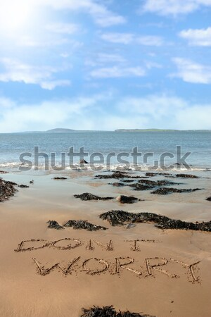rippled water on beautiful sandy beach Stock photo © morrbyte
