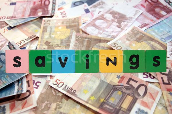 Pénz megtakarított pénz játék levelek pénz vágási körvonal Stock fotó © morrbyte