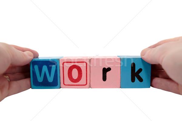 Stock photo: work in hands