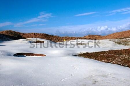 Liens golf orageux ciel neige couvert Photo stock © morrbyte