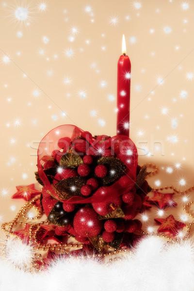 Bacio palla candele amore donne Foto d'archivio © morrbyte