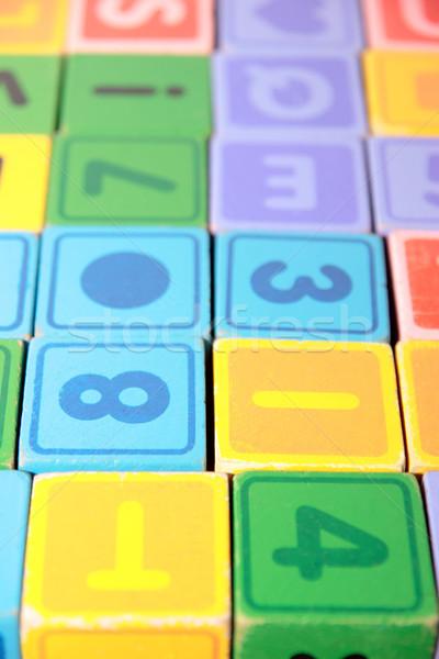 childrens play letter blocks Stock photo © morrbyte