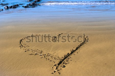 beach arrows Stock photo © morrbyte
