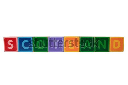 scotland in toy block letters Stock photo © morrbyte