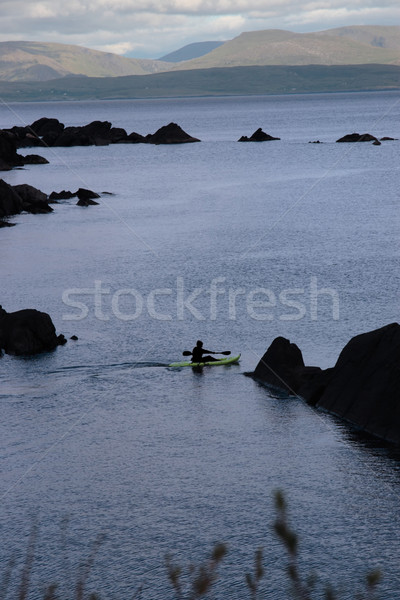 lone kayaker Stock photo © morrbyte