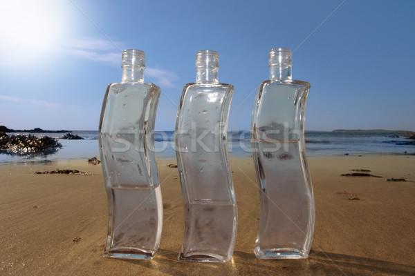 three curvy bottles Stock photo © morrbyte