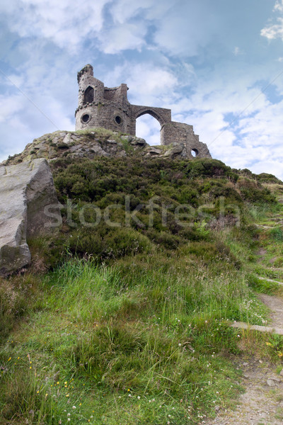 Mow cop castle Stock photo © morrbyte