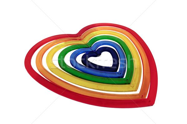 Buio cuore sei plastica Foto d'archivio © morrbyte