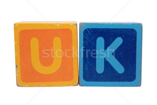 uk in toy letter blocks Stock photo © morrbyte