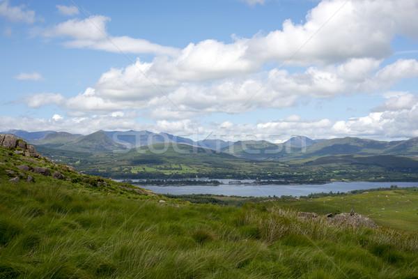 山 表示 青空 方法 徒歩 アイルランド ストックフォト © morrbyte