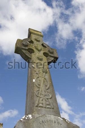 日照 ケルト クロス 古代 墓地 大聖堂 ストックフォト © morrbyte