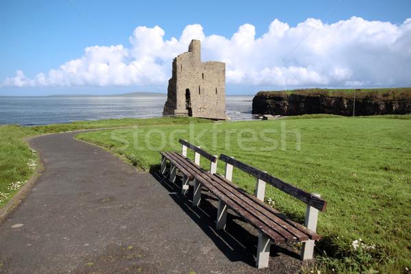 ballybunion castle ruin view Stock photo © morrbyte
