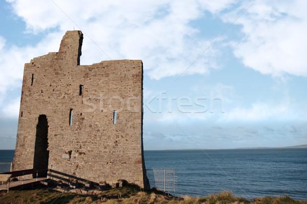 bridge to ballybunions old castle ruins Stock photo © morrbyte