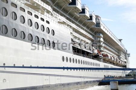 Navio de cruzeiro água janela azul viajar navio Foto stock © morrbyte