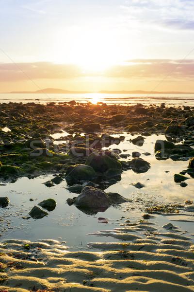 безмятежный Размышления пляж способом Ирландия Сток-фото © morrbyte