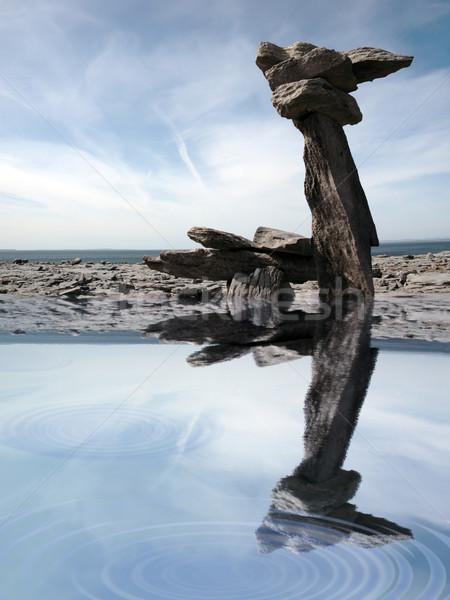 standing stones on the burren Stock photo © morrbyte