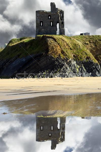 ruins of a wild atlantic way castle Stock photo © morrbyte
