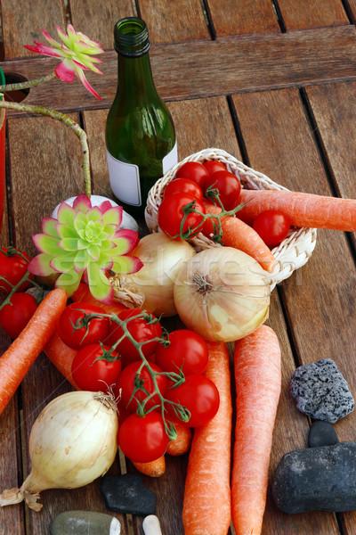 Здоровый образ жизни продовольствие вино природы Сток-фото © morrbyte