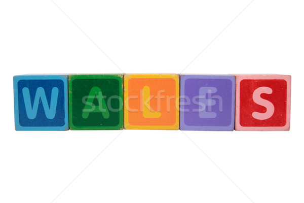 wales in toy block letters Stock photo © morrbyte