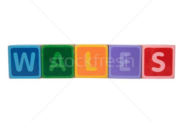 Galles giocattolo lettere bianco Foto d'archivio © morrbyte