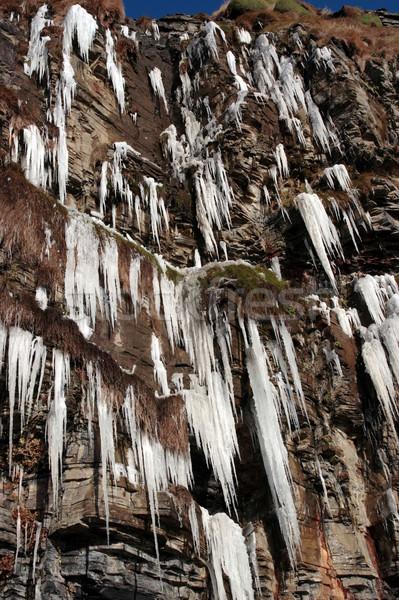 凍結 崖 顔 アイルランド 空 水 ストックフォト © morrbyte