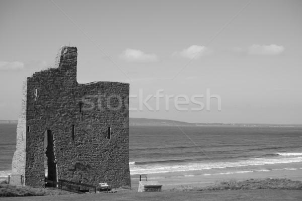 Manera ruina castillo ruinas Irlanda Foto stock © morrbyte