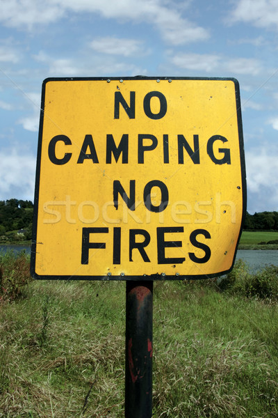 no camping and fires Stock photo © morrbyte