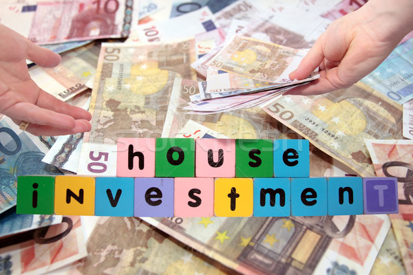 ízület ház beruházás levelek játék varázsige Stock fotó © morrbyte