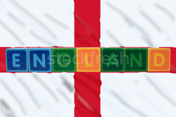 england and flag in toy block letters Stock photo © morrbyte