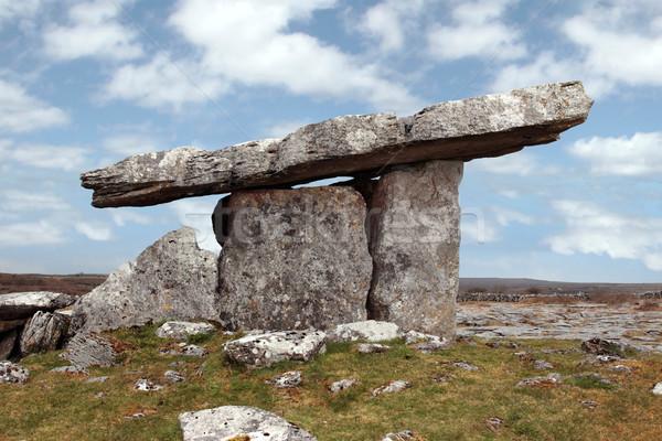 Történelmi porta sír természet kék utazás Stock fotó © morrbyte
