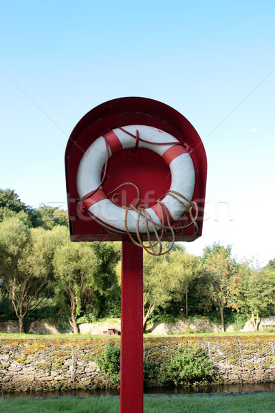riverside lifebuoy Stock photo © morrbyte