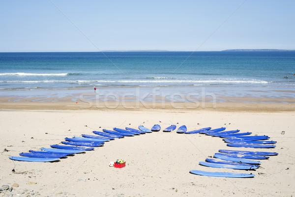 サーフィン 学校 ビーチ 自然 海 夏 ストックフォト © morrbyte