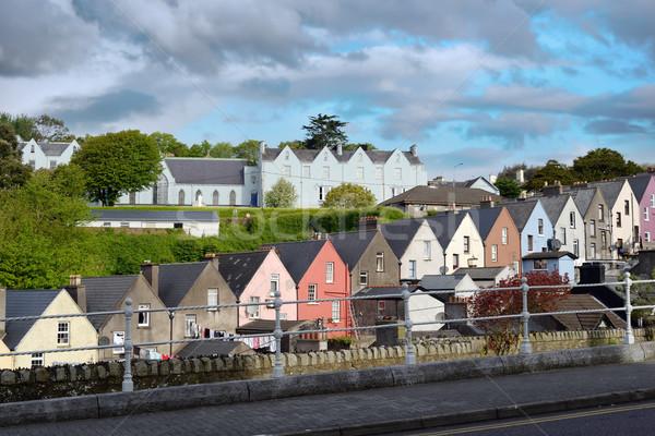 表示 町 通り コルク アイルランド 空 ストックフォト © morrbyte
