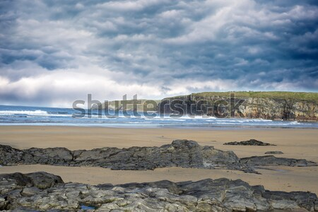 beach waves and cliffs on the wild atlantic way Stock photo © morrbyte
