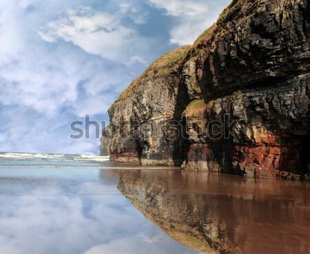 пляж способом Ирландия Сток-фото © morrbyte