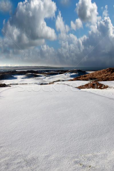 Сток-фото: снега · покрытый · ссылками · гольф · Ирландия