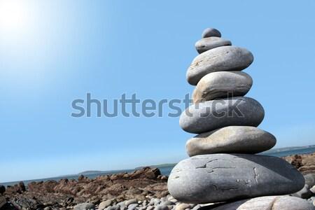 hot balanced stones Stock photo © morrbyte