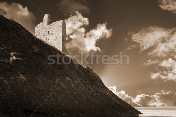 ballybunion castle and the cliff face Stock photo © morrbyte