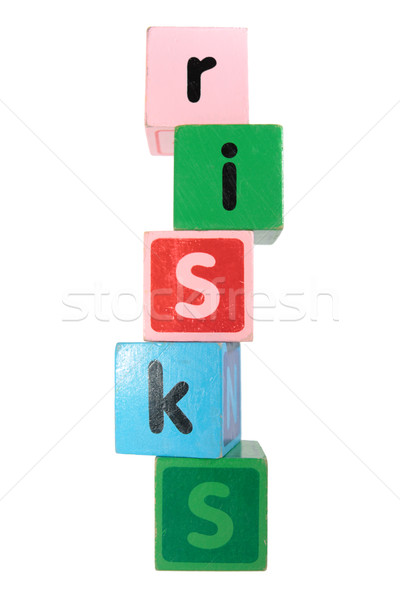 risks in toy play block letters Stock photo © morrbyte