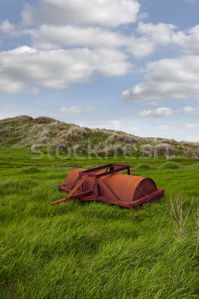 abandoned agricultural heavy roller Stock photo © morrbyte