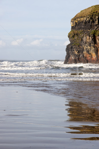 cliffs of Ballybunion with reflections Stock photo © morrbyte