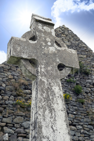 old kerry celtic cross Stock photo © morrbyte
